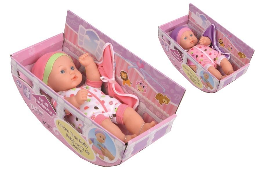 Panenka - miminko se zvukem s postýlkou 30cm