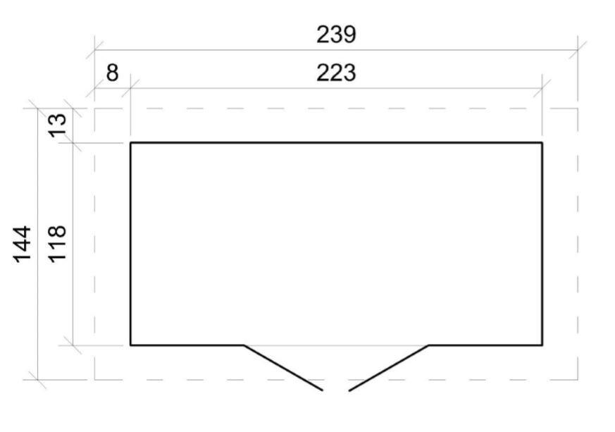 Domek na nářadí EKO-LINE H310 130x 235 cm tl.  19 mm