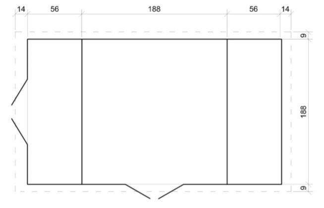 Domek na nářadí EKO-LINE H389 312x200 cm tl.  19 mm