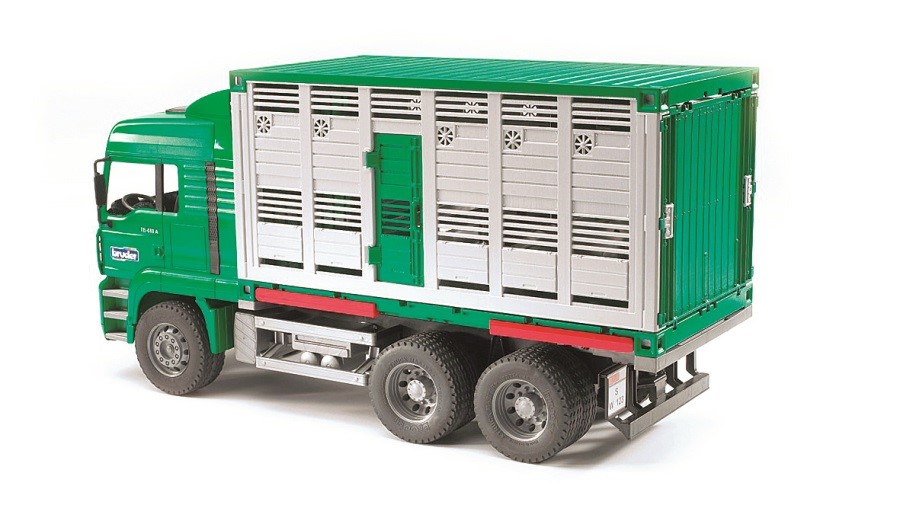 BRUDER Nákladní auto MAN - kontejner na zvířata