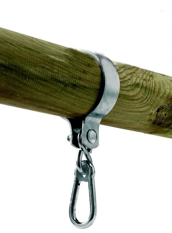 Houpačkové uchycení na kulatinu 120x 3 mm