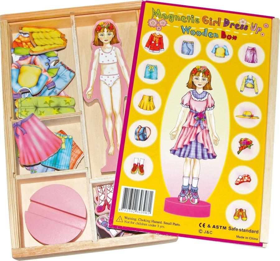 Magnetická hra oblečení panenky Magda