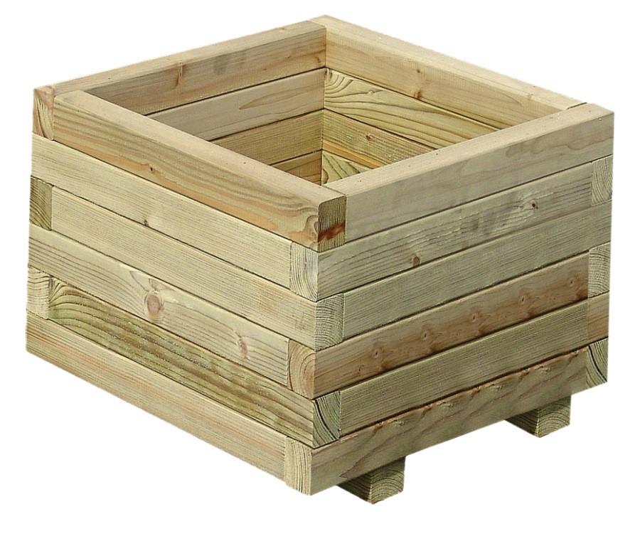 Dřevěný květináč PALMAKO TOVE 4 40x 40 cm tl.  44 mm
