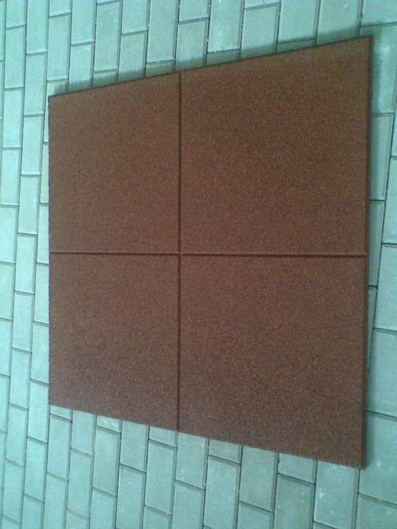 Pryžová deska 1x1m červená - výška pádu 1m