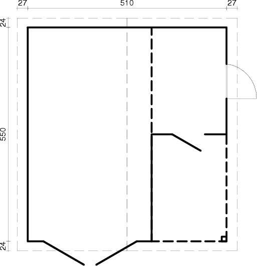 Garáž Roger - 21,9+5,2 m2 - bez dveří