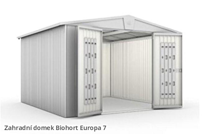 biohort zahradn domek europa 7 tmav zelen. Black Bedroom Furniture Sets. Home Design Ideas