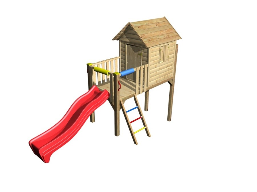 DĚTSKÝ DOMEČEK Monkey´s Home David 100  (104cm x 239cm x 260cm)