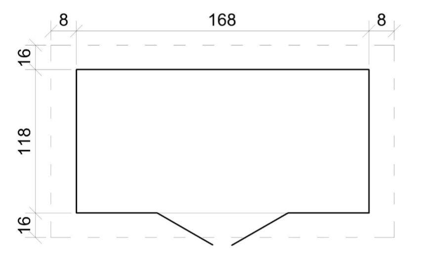 Domek na nářadí EKO-LINE H312 130x 180 cm tl.  19 mm