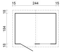Zahradní domek EKO-LINE Makro-1 4,3 m2