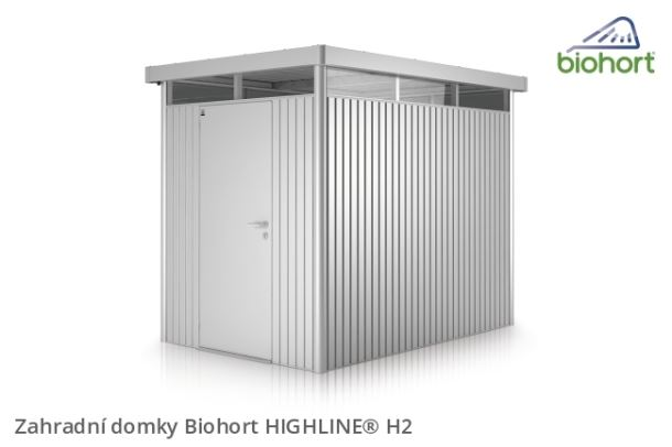 Biohort Zahradní domek HIGHLINE® H2, stříbrná metalíza