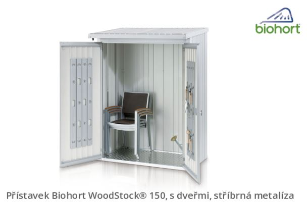 Biohort Zadní stěna WoodStock® 150, tmavě šedá metalíza