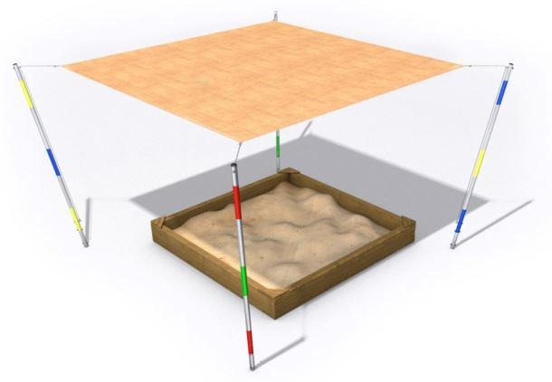 Stínění pro pískoviště Big C (5x5)