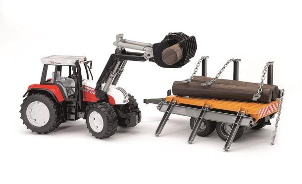 BRUDER Traktor STEYR 170 s čelním nakladačem a valníkem