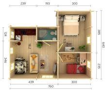 ZAHRADNÍ DOMEK Emily 39,2 m2