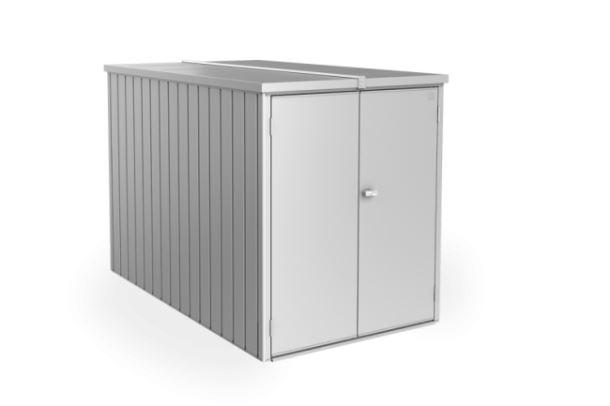 Biohort Minigaráž 122 x 203 x 145, stříbrná metalíza