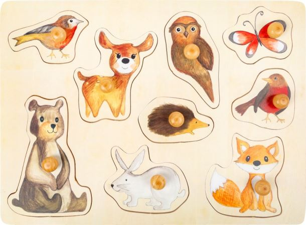 Puzzle lesní zvířátka