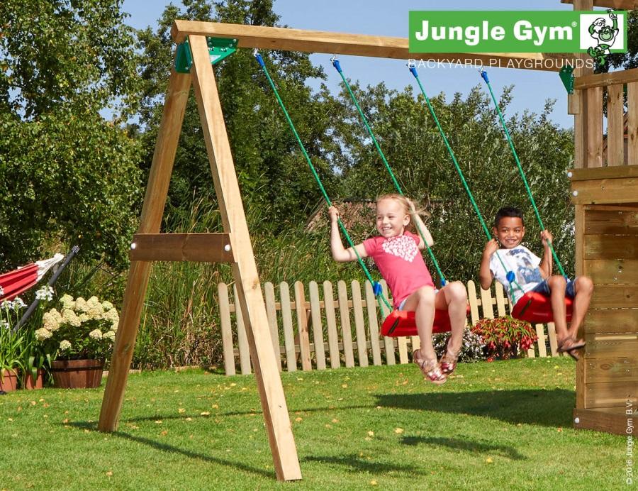 PŘÍSTAVEK K HŘIŠTI Jungle Gym Swing se dvěma sedáky