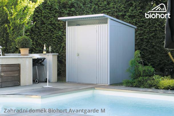 Biohort Zahradní domek AVANTGARDE A3, stříbrná metalíza