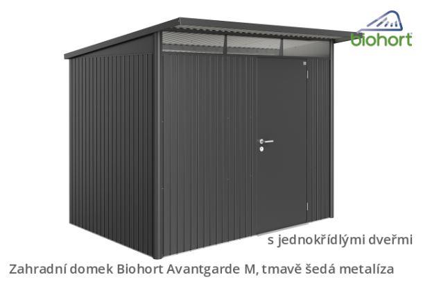 Biohort Zahradní domek AVANTGARDE A6, tmavě šedá metalíza