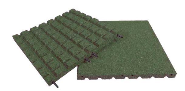 Pryžová deska 0,5x0,5m zelená - výška pádu 1,5 m