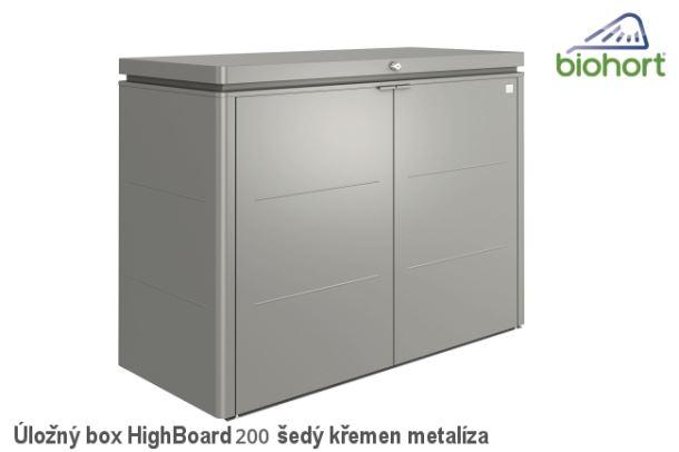 Biohort Úložný box HighBoard 200, šedý křemen metalíza