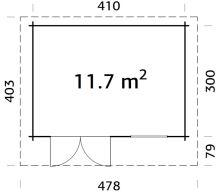 ZAHRADNÍ DOMEK Heidi 11,7 m2 430x320 cm