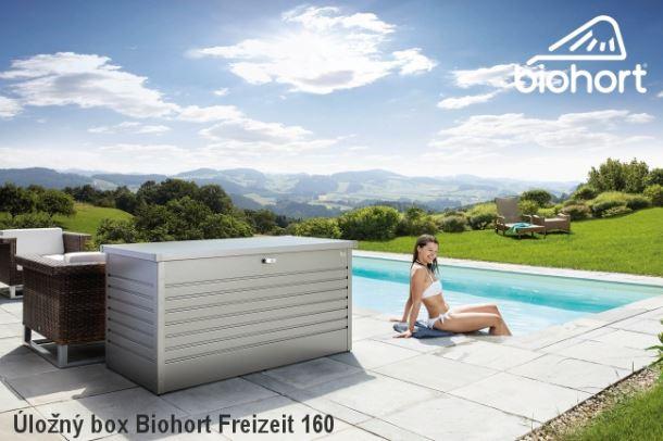 Biohort Úložný box FreizeitBox 130, stříbrná metalíza