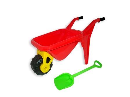 Dětské plastové kolečko Zahradník s plastovou lopatkou