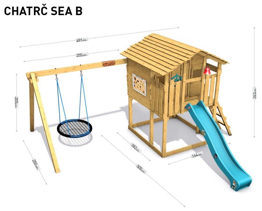 Dětský domeček Monkey´s Home Chatrč pirát Sea