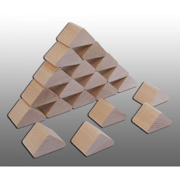 Dřevěná kostka trojúhelník 33x33x20mm