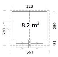 Prodejní stánek Stella 8,2 m2