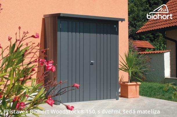 Biohort Dveřní set WoodStock® 150, tmavě šedá metalíza