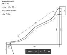 SKLUZAVKA Monkey´s nerezová pro výšku konstrukce 2,5 m