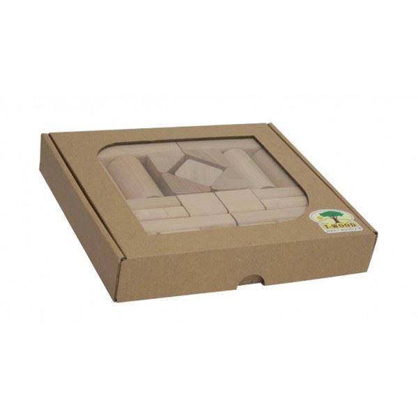Dřevěné kostky T-Wood 25ks