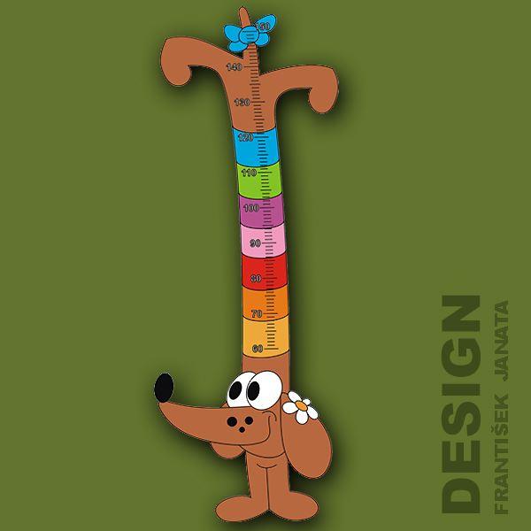 Metr Jezevčík dřevěný