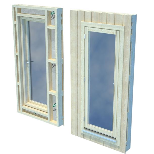 Panel s oknem pro Nordic+ velké okno