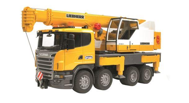 BRUDER-LKW Scania Autojeřáb Liebherr