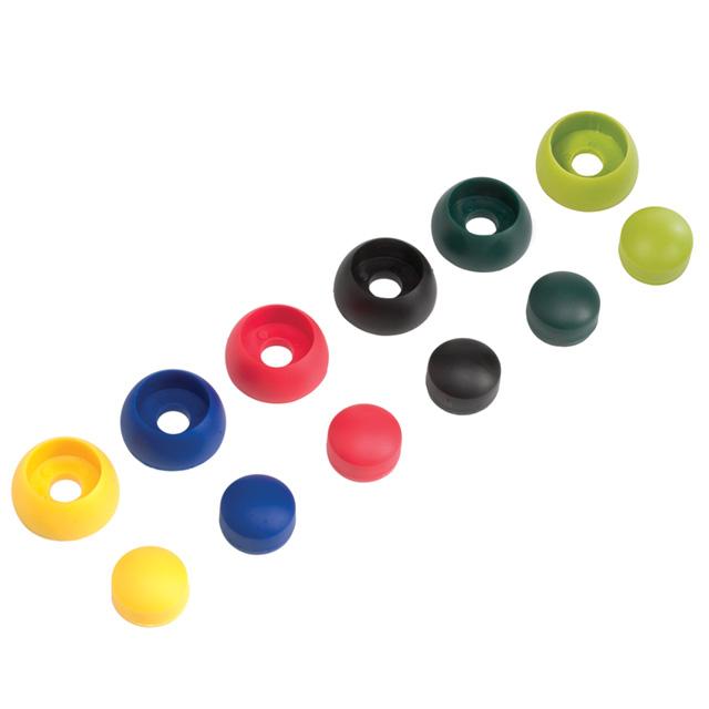 Krytky šroubů 8/10mm světle zelená 10ks/bal.