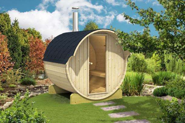 Barelová sauna 220, s elektrickými kamny