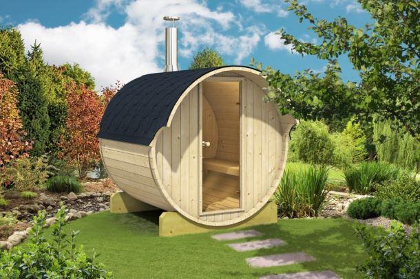 Barelová sauna 220, s kamny na dřevo