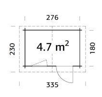 ZAHRADNÍ DOMEK Klara 4,7 m2