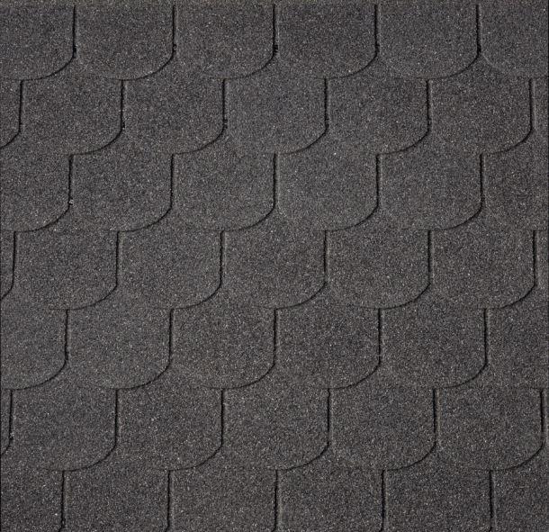 Střešní krytina šindel BOBROVKA 27m2 černý