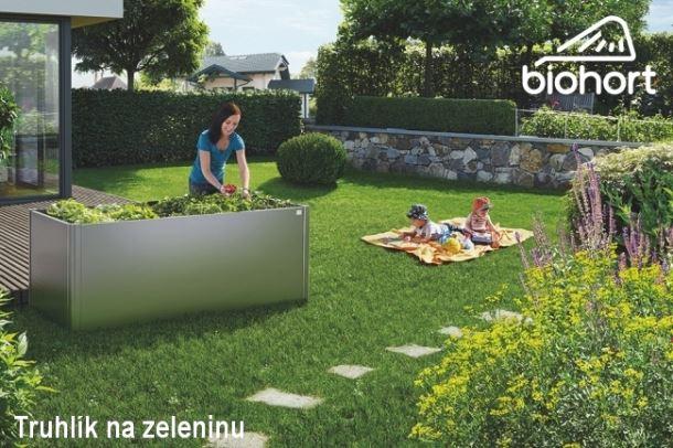 Biohort Zvýšený truhlík na zeleninu 2 x 0,5 šedý křemen metalíza