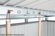 Biohort Zahradní domek PANORAMA P3, šedý křemen metalíza