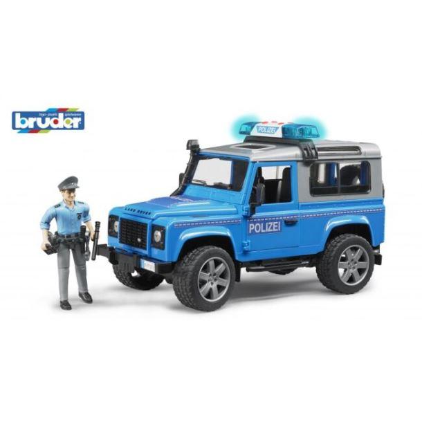 BRUDER - Jeep Land Rover  Policie s figurkou