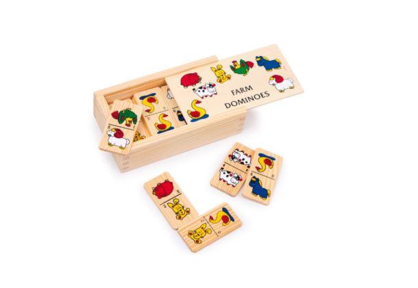 Dřevěné domino farma malé