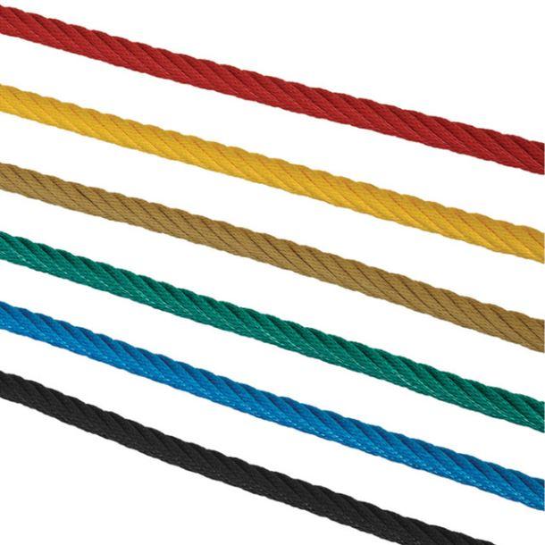 lano s ocelovou výztuží - zelené