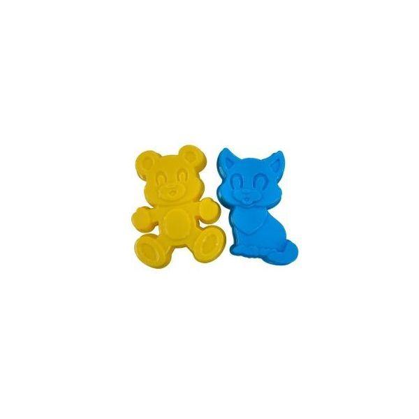 Formičky na písek: kotě a méďa 2ks/bal.