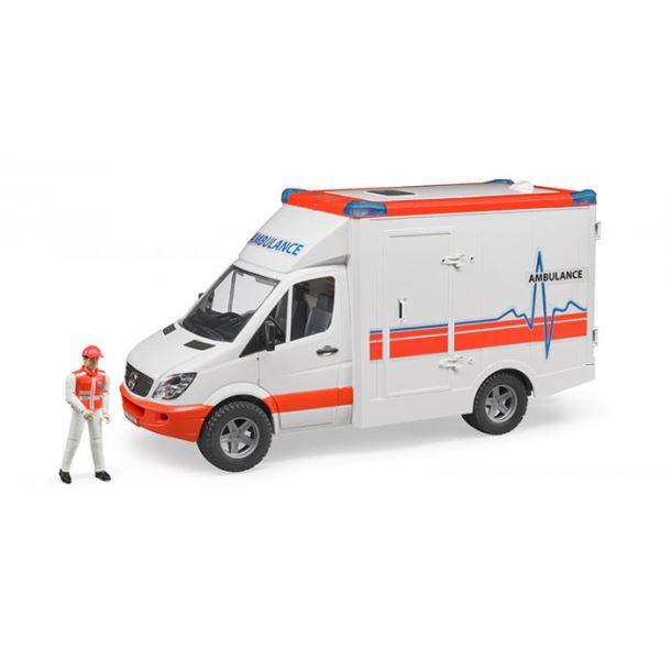 BRUDER - Sanitka MB Sprinter s figurkou