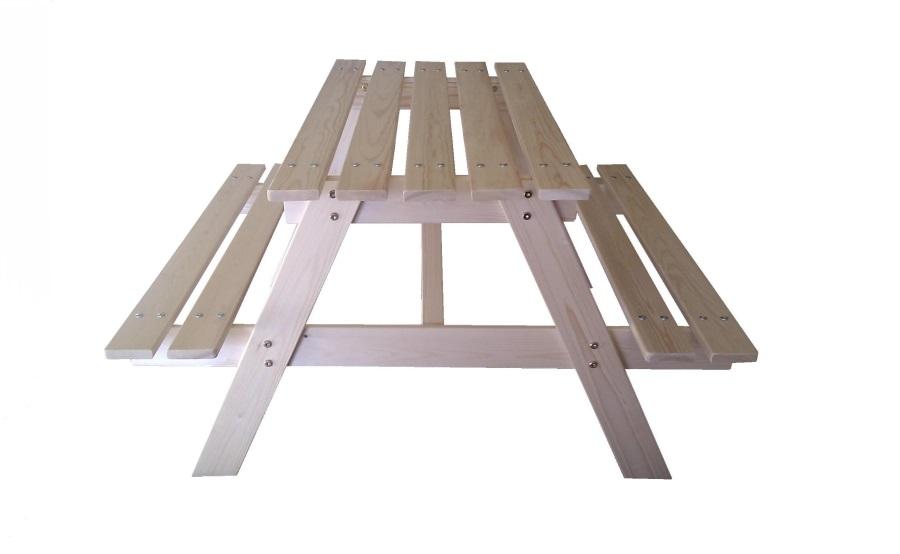 Dětský dřevěný piknikový stůl velký